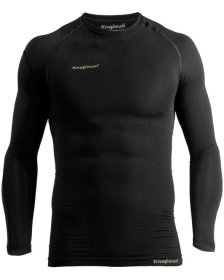 Knap'man Compressieshirt UltraThin Long Sleeve Crewneck zwart