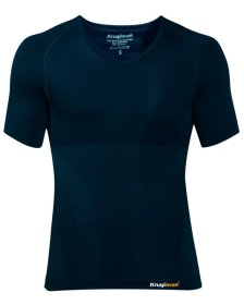 Knap'man Compressieshirt UltraThin v-neck navy blue