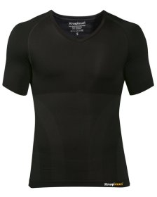 Knap'man Compressieshirt UltraThin v-neck zwart